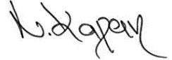 Unterschrift Nazan Kapan